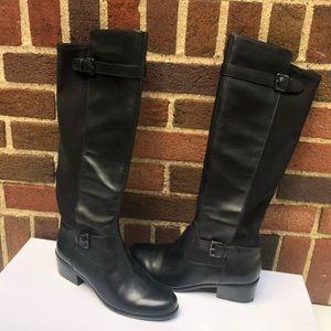 NIB Tahari Kent Black Riding Boots Size 8